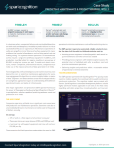 predicting maintenance and production in oil wells case study
