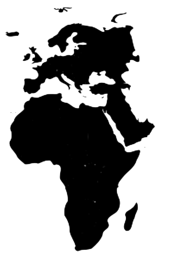 Small map of Europe, Middle East, and Africa