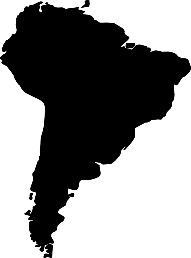 Small map of South America.
