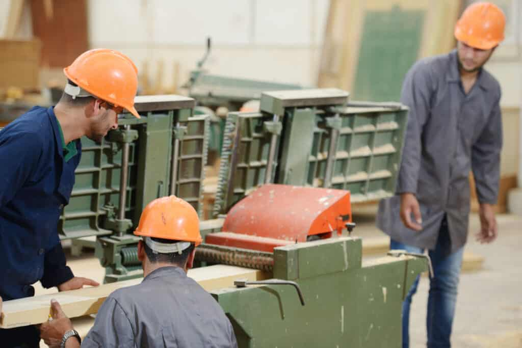 Manufacturing plant workers
