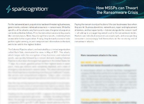 How MSSPs Can Thwart The Ransomware Crisis