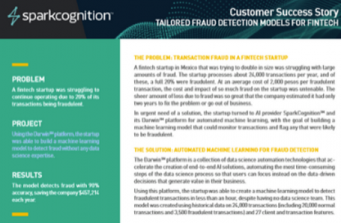 Customer Success Story Tailored Fraud Detection Model for Fintech thumb