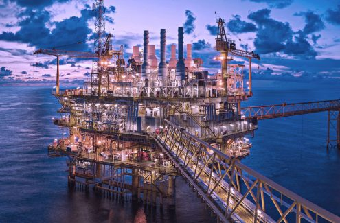 Image of an offshore platform